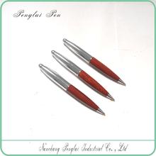 2015 cut promotional wooden bic ball pen (metal pen)