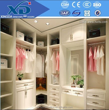 high quality cheap price big space solid wood bedroom wardrobe from China