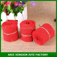 color burlap ribbon decorations for holiday and wedding party