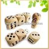 factory top selling dice shape wood usb flash drive