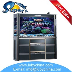 salt water fresh water marine aquarium glass fish tank for ornament fish, with sump filtration