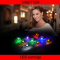 LE-DPHT 2015 newest led earrings copper led stud, shining led eardrop, party decor earring