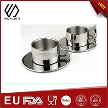 stainless steel double wall small coffee cup