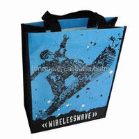 Recycle Foldable Strong Handles Nonwoven Matt / Gloss Laminated Bags
