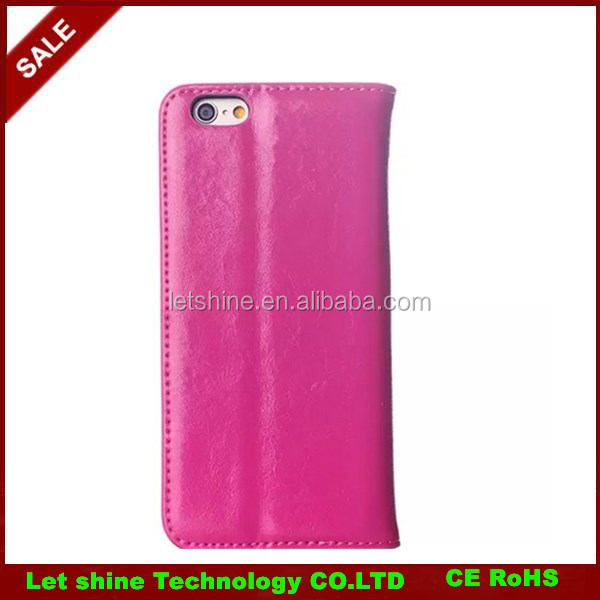 Leather mobile phone case for iPhone6 ,mobile phone flip case funky mobile phone cases