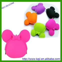 Silicone bag for coin and card holder silicone rubber handbag for many bank