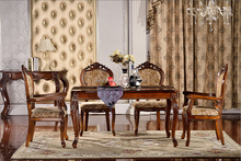 rustic antique table set old style european classic wood table