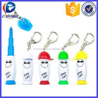 Promotional Plastice Mini cute toy pen key ring