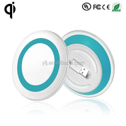 alibaba express round YFJ-074 universal qi wireless charger for iphone5 5s , 6 6plus