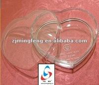 heart shape plastic candy box (wz8163)