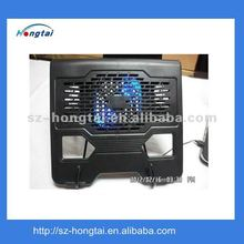 Hongtai brand big size fan strong power cooling pad with blue led