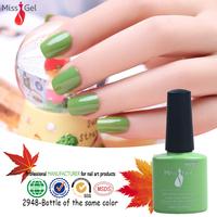 2015 popular 444 colors salon professional gel nail polish for nail polish spray