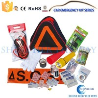 Warning Sign Triangle Bag Emergency Tire Repair Tools Kit