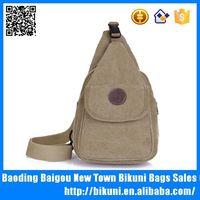 China manufacturer fashion retro canvas leisure khaki chest bag