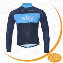 Top quality control compression tight Sky team club mens long sleeve cycling jersey +Long pants set