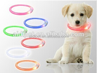 Rechargeable waterproof awesome LED lighted dog collar