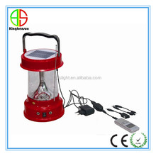Factory wholesale classic style rechargeable solar camping lantern with cellphone charger