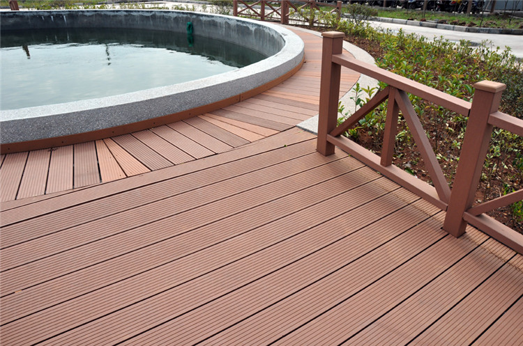 Water Proof Balcony Flooring Terrace Decking Wood Plastic Composite Decking O