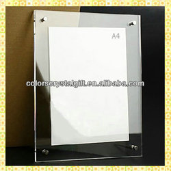 New Designed Crystal Clear Acrylic Photo Frame For Wedding Souvenirs