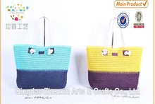 beautiful paper straw crochet women beach bag,lady shopping handbag