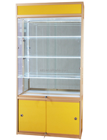 Flat packing classic design mdf material customized modern watch glass display cabinet in supermarket
