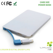 K041 Small Size Polymer Batteries Power Bank, Safe and Fast Charging Card Size Power Bank