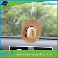 Customize printing cowboy hat car air freshener