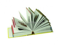 Black and white text pages sewing binding hardcover cheap book