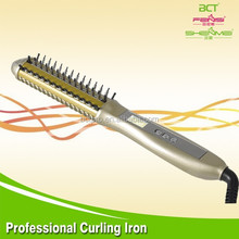 Multifunction hair curler with comb for straighten and curl hair