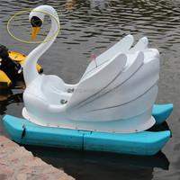 Cartoon beautiful fiberglass swan pedal pontoon boats for sale