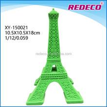 Resin flocked Eiffel tower centerpieces decoration
