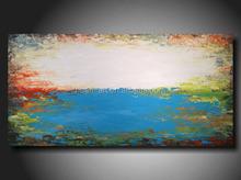 2016 newest popular 100% handmade modern abstract acrylic painting