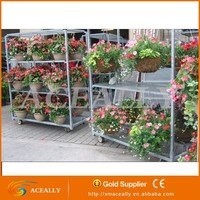 5% OFF ! 2015 hot sale removeable expanded flower cart greenhouse trolley