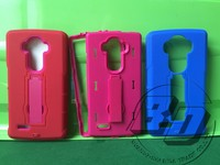 Hot Selling Cell Phone Case For LG G4 shatter-resistant Shock-proof Silicone+PC Back bracket Case Cover