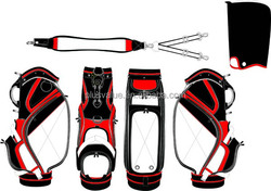 wholesale high quality custom handmade PU leather oem golf bag