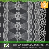 87050 milk silk chemical guipure designs high quality embroidery factory net mesh organza lace fabric fancy lace borders