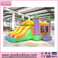 2014 hot sale frozen jumping castle house inflatable bouncer ,double slide bounce house