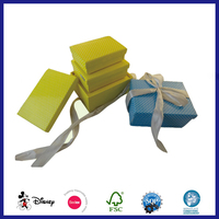 Decorative Ribbon Fancy Glossy Printing Nesting Stacking Storage Keepsake Boxes