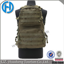 Army green military assault tactical backpack 600D