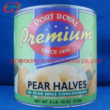 A10 Canned fruits manufacturer , canned pear halves in light syrup