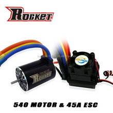 Rc car ESC 45A and motor Max Amps 38A combo RC toy - 1/10th Scale 4wd Brushless Moto rPowered off-Road Buggy Booster-Pro