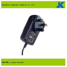 12v 1500ma universal power adapter 12v mobile phone battery charger 3 flat pin adaptor plug