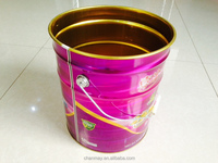 16L metal barrel with steel handle for paint, coating or other chemical products