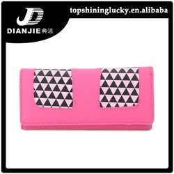 stock Hot sale PU leather cute Rose black red wallets
