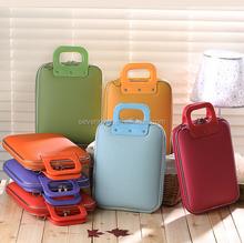 Newest Design Multifunctions Hand Fashion Colorful 12 Inch Laptop Bag Leather Laptop Messenger Bag