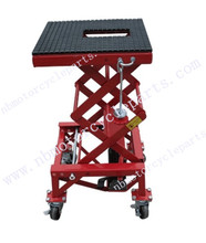 Hydraulic Scissor 300lb Bike Motorcycle Lift With 4 Wheel Motorbike ATV Workshop CE Authentication