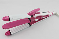 Pink color New Arrival Hair Curler and Hair Straightener 3 IN 1 Super Hair Styler