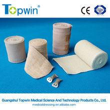 Skin colour two clips medical latex free high elastic bandage