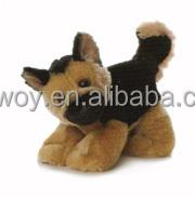 custom imprinted giveaway soft plush stuffed german shepherd lying toys481