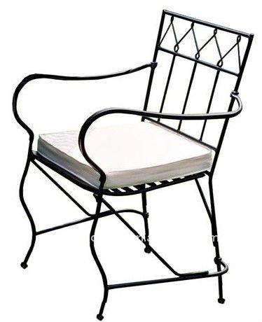 Forjado de hierro silla plegable sillas de metal for Modelos de sillas de hierro